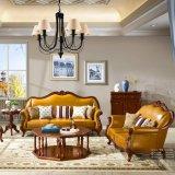 居間の家具のための標準的な革ソファーそして表