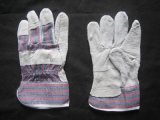 Handschoen van het Algemene Doel van de Handschoen van het Leer van de Koe van de economie de Gespleten met Herstelde Palm (3053)