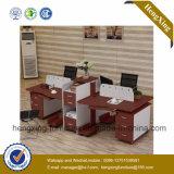 現代4つのシートワークステーションキャビネット(HX-NCD074A)が付いている木のオフィス用家具