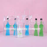 De aangepaste Zakken van de Wijn van het Ontwerp Duidelijke pp Plastic Enige voor Één Pakket van de Fles (de zak van de wijn)