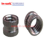 Noix rondes de garniture intérieure de Droit-Moletage d'acier inoxydable