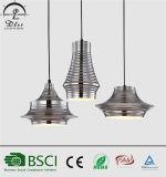 Lâmpada pendente de suspensão de ferro E27 popular para iluminação de decoração de hotéis