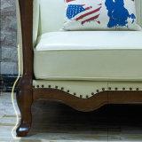 Sofá moderno do couro genuíno do estilo americano para a mobília Home (AS845)