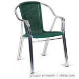 Ротанг PE + стул двойной алюминиевой пробки напольный/крытый