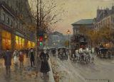 Peinture à l'huile de vue de rue d'horizontal de type de l'Angleterre pour le décor d'hôtel