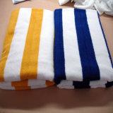 Оптовая продажа полотенца пляжа полотенца ванны хлопка жаккарда 21s нашивок