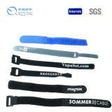Elastische Haken-und Schleifen-Brücke mit Firmenzeichen-Drucken-Handgelenk-Band für medizinischen Gebrauch