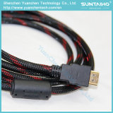 Cavo ad alta velocità di HDMI con Ethernet e due filtri dal ferrito