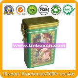 Rectángulo rectangular para el envase del estaño del alimento, rectángulo del té del estaño del té