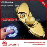 S-Form-bunte Lichter elektrisches USB-belastete Handspinner-Zigaretten-Feuerzeug