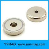 直通の穴が付いている2017年のYymagのネオジムの鍋の磁石