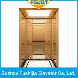 チタニウムの金のステンレス鋼が付いている贅沢な装飾の別荘のエレベーター