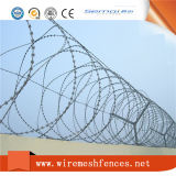 刑務所の塀のための電流を通されたアコーディオン式かみそりワイヤー