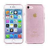 iPhone 7을%s 금속 단추를 가진 반짝임 TPU 케이스