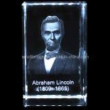 Presidente Abraham Lincoln del cristal 3D