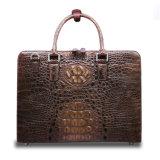 2017 Qualidade Men Crocodile Leather Briefcase Shoulder Laptop Briefcase