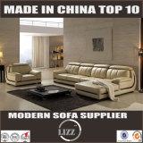 Europäisches L Form-Leder-Sofa Lz063