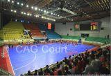 Plancher en plastique pour la cour extérieure de sport d'intérieur (la Force mixte de l'OTAN) (bronze d'argent d'or de Nicecourt-)