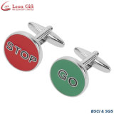 Custom High Quality Fashion Company Brand Cufflink Fabricante