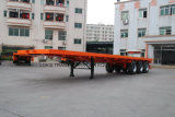 3axles Flatbed Semi Remolque