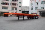 40 Fuß 3axles Behälter-Flachbett-halb Schlussteil-/einzelner Reifen