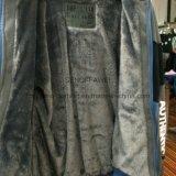 Gli uomini di modo scaldano Chiudono con chiusura a lampo-in su il cappotto del panno morbido con pelliccia in vestiti adulti Fw-8615 di sport