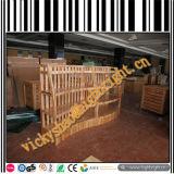 Estante de visualización de madera de la plataforma para los vehículos y las tuercas secos