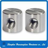 Noix cylindrique encochée de baril de goujon d'acier inoxydable pour le bâti (m2-m16)