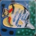 6X6cm Hand Painted Ceramic Fridge Magnet