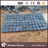 Piedra negra natural del adoquín del basalto para pavimentar y la calzada