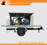 Compresor de aire móvil de rosca refrescado aire