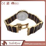 Reloj grande de la mano del cuarzo del acero inoxidable de la dial de la manera