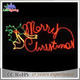 lumières de motif de la lettre extérieure 2D DEL du Joyeux Noël 220V