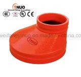 La qualité malléable de garnitures de pipe de bâti de fer filetée/a cannelé le réducteur excentrique concentrique 300 LPC