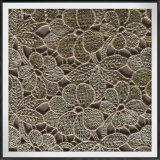 Laço químico bordado flor da guipura do poliéster do laço da guipura do laço da guipura