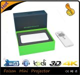 Proyector recargable de la alta de la batería ranura para tarjeta LED Smartphone de WiFi TF