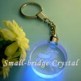 3D regalo cristalino Keychain (ND3084) del hockey sobre hielo LED Keychain/de la promoción
