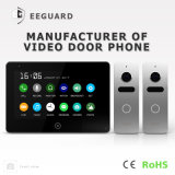 Speicher-Touch Screen 7 Zoll inländisches Wertpapier-Wechselsprechanlage-videotür-Telefon-