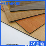 PE et PVDF Wooden Texture Aluminium Decoration Composite Panel