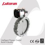 Puder-betätigte sich Aluminiumplatten-Drosselventil mit Zylinder
