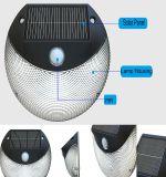 Seul stand léger extérieur actionné solaire du détecteur de mouvement de fabrication DEL