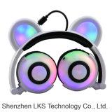 Écouteur de Plugable d'oreille de panda de brevet avec l'éclairage LED coloré de clignotement pour le cadeau de Noël