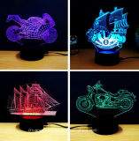 Lampada Colore-Cambiante dell'atmosfera figura creativa di disegno 3D di varia con il caricatore del USB