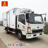 Camion de faible puissance de réfrigérateur pour la crême de viande de transport et glacée