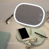 Interruttore ricaricabile moderno operato di tocco della lampada della Tabella del LED con lo specchio cosmetico