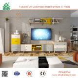 Europäischer Art Fernsehapparat-Standplatz-hölzerner Media-Tisch, Wohnzimmer Fernsehapparat-Standplatz-Tannen-Holz mit Türen, Fernsehapparat-Standplatz-Holz