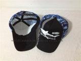 Großhandelssommer-Hut-preiswerte kundenspezifische schwarze Baumwollineinander greifen-Fernlastfahrer-Schutzkappe