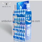 Soporte de visualización al por mayor de suelo de la cartulina para la visualización de las botellas de la bebida