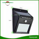 De détecteur de la lumière DEL de mur projecteurs de lampe de voie imperméable à l'eau solaire extérieure solaire de patio de 20 éclairage de secours de jardin de DEL