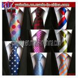 Cravates en soie tissées classiques en soie de cravate de piste de postes d'usager (T8034)